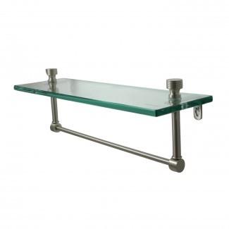 Allied Brass Mfg. Estante de baño de vidrio simple con barra de toalla ...