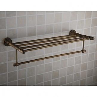 Baño - Barras de toallas - Pared de acabado de latón antiguo Ti-PVD