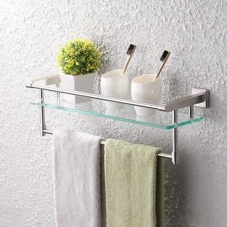 KES A2225-2 SUS304 estante de vidrio de baño de acero inoxidable ...