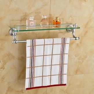 Cosmético cromado pulido baño estante montaje en pared cosmético ...