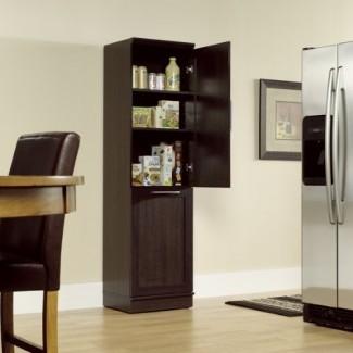 Gabinete de almacenamiento estrecho con papelera de reciclaje / contenedor de basura / cesto de ropa