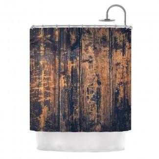 Barn Floor de Susan Sanders Cortina de ducha rústica individual