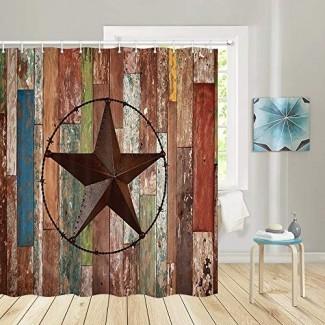 Puerta de madera rústica JAWO con decoración de la habitación de la granja del granero del suroeste de Texas Star