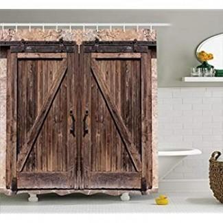 Amazon.com: Decoración antigua de cortina de ducha extra larga de ...