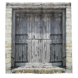 Cortinas de ducha con puerta de granero | Zazzle