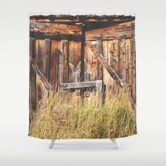 Cortina de ducha de puertas de granero por anniebailey | Society6