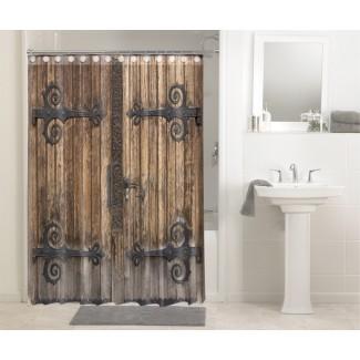 Rústica antigua puerta de madera antigua puerta de granero # 609 ducha ...