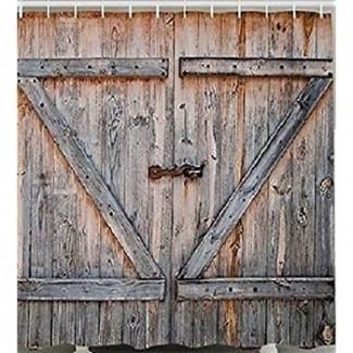 Amazon.com: DUCHA de tela de puertas de granero rústico ...