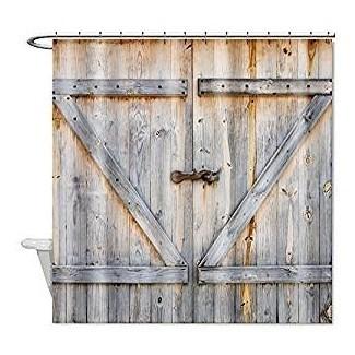 Amazon.com: Baño de puerta de madera de granero rústico Missy Country ...