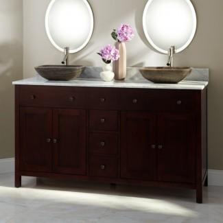 25 ideas de diseño de tocadores de baño doble lavabo con imágenes ...