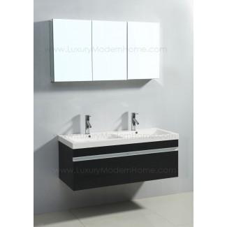 Vanity Sink 46 en baño doble moderno Espresso Black ...