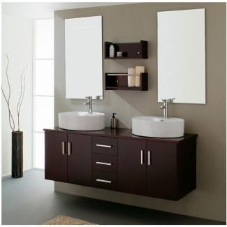 25 ideas de diseño de tocadores de baño de doble lavabo con imágenes ...