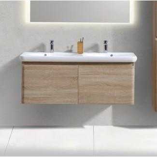 """Ghent 48.8 """"tocador de baño doble montado en la pared"""