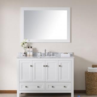 """Brier - Juego de tocador de baño individual de 48 """"con espejo"""