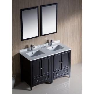 "Tocador doble lavabo Oxford de 48 ""- Espresso -"