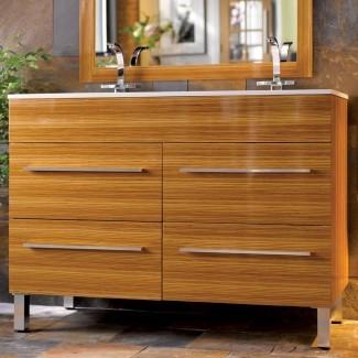 Tocador de baño con lavabo doble de 48 pulgadas | HomesFeed