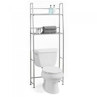Salt Over The Toilet 2 Tier Space Saver en plata