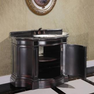 Mueble de tocador vintage de 43 pulgadas de ancho con lavabo simple ...