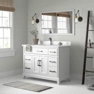 """Valor 48 """"tocador de baño individual con espejo"""