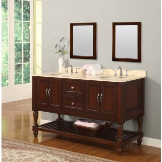 "Consola para lavabo doble de 70 ""Mission Style, tocador para baño con ..."
