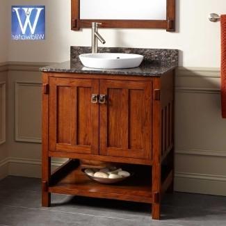 muebles de baño estilo misión
