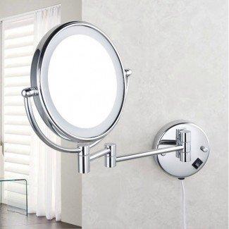 Espejo de maquillaje profesional con luz ... [19659006] Práctico y eficiente con el espacio en un espejo de maquillaje profesional con luces incrustadas en la costura del vidrio. El espejo está hecho de aluminio cromado y tiene un brazo ajustable que permite ajustarlo a su preferencia. </div> </div> <div class=