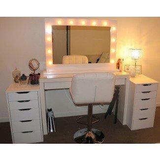 Espejo de maquillaje Ikea con luces - Makeup Vidalondon