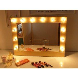 Espejo de Hollywood con luces espejo de vanidad maquillaje iluminado