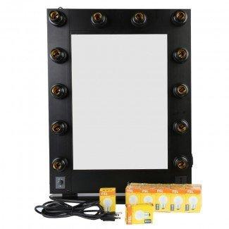 espejo de maquillaje profesional con luces espejos con bombillas ...