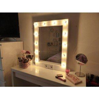 Espejo de maquillaje con luces Espejo de vanidad Espejo de Hollywood