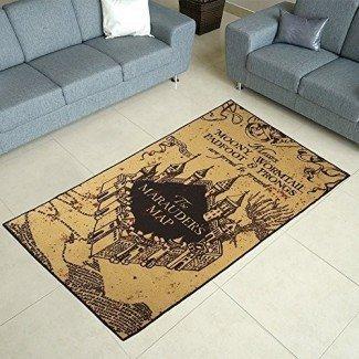 Alfombra de área de mapa Harry Potter Marauders