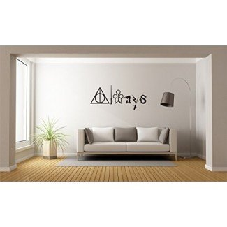 Etiqueta engomada de la pared mural de Harry Potter siempre para computadora portátil para el hogar