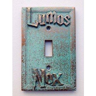 Cubierta de interruptor de luz Lumos / Nox (Harry Potter) (Personalizada)