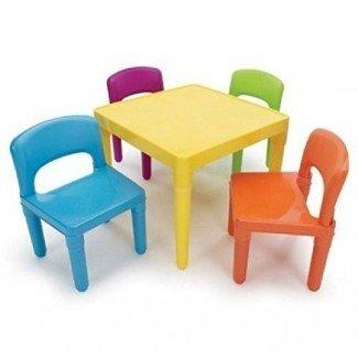 Juego de mesa para niños Juego de sillas de interior para exterior Muebles de juguete para niños pequeños