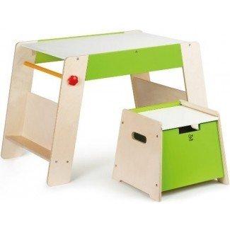 Hape Art Play Station y juego de taburetes Toddler Art Caballetes y accesorios