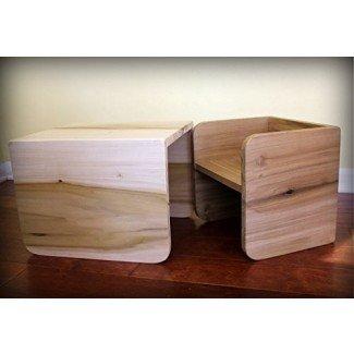 Juego de sillas Montessori Cube - 2 pequeñas, 1 grande