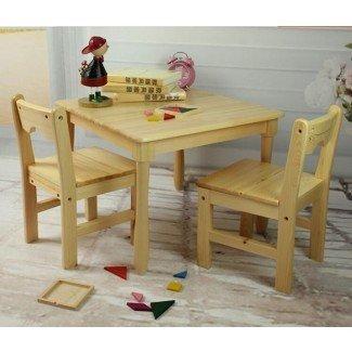 Muebles de la escuela Tiger: mesa cuadrada con sillas ...