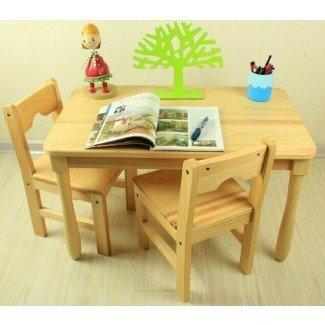 Muebles de la escuela Tiger: mesas de esquina redondas con sillas ...