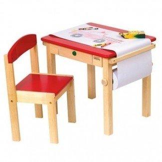 Materiales Montessori - Juego de mesa y silla de arte - Rojo