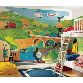 Mural de papel tapiz Thomas the Train Size 9 ′ x 15 ′ |