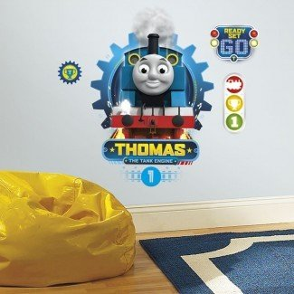 Nuevas CALCOMANÍAS DE PARED GOMA THOMAS THE TANK ENGINE RACING Boys