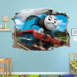 Thomas the tank, 3d wall and Engine en Pinterest