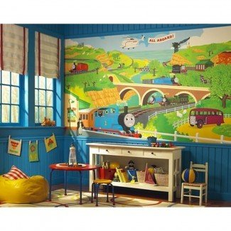 Nuevo XL THOMAS THE TANK ENGINE WALL MURAL Sala de trenes