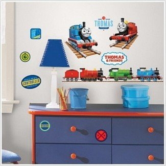 THOMAS THE TANK ENGINE pegatinas de pared 33 calcomanías habitación de trenes