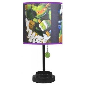 Lámpara de mesa Nickelodeon TMNT con pantalla troquelada con bombilla CFL
