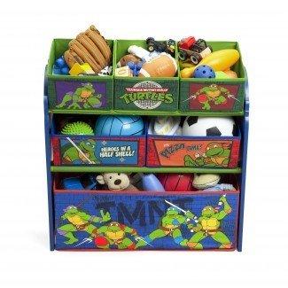 Organizador de almacenamiento de múltiples contenedores Ninja Turtles