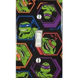 Placa decorativa de la pared de la cubierta del interruptor de la luz de las tortugas ninja mutantes adolescentes