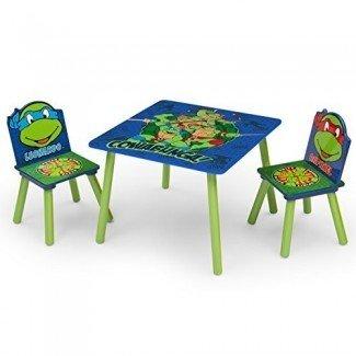 Juego de mesa y silla para niños Delta, tortugas ninjas mutantes adolescentes de Nickelodeon