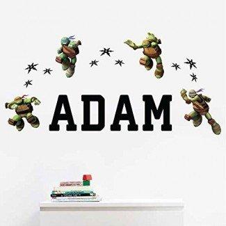 Adhesivo de pared personalizado para niños Teenage Mutant Ninja TurtlesTM Kids