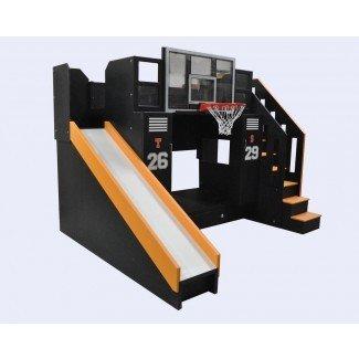 Cama alta de tamaño completo con escaleras. Medium Size Of Bunk